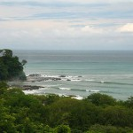 The Mar Azul surf break in Mal Pais, as seen from Pez Volador rental villa